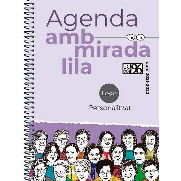 Agenda amb mirada lila escolar